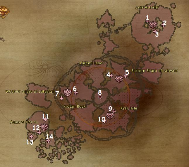 Upper Abyss Artifact Locations
