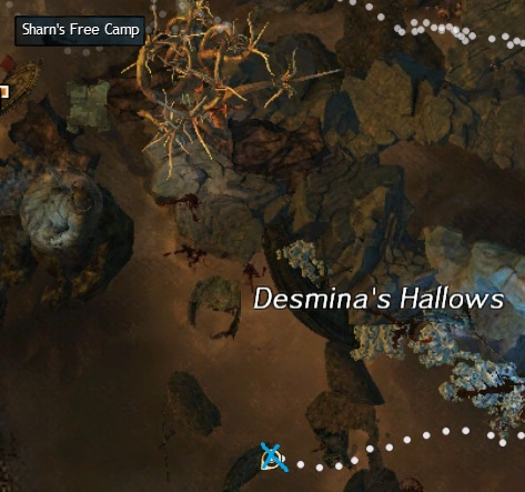 Southern Cursed Shore Ancient Wood Spawn Location in Desmina's Hallows