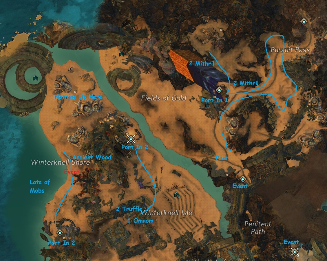 Northern Cursed Shore Farming Route