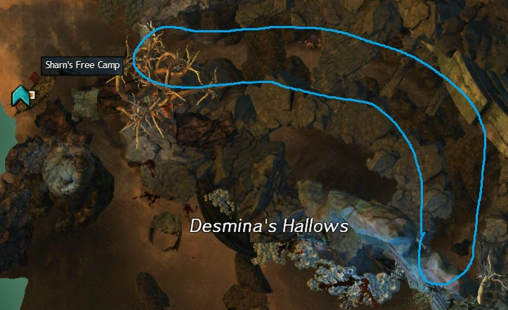 Cursed Shore - Orichalcum in the tunnel north of Desmina's Hallows