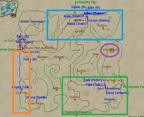Butcherblock Mountains Leveling Locations