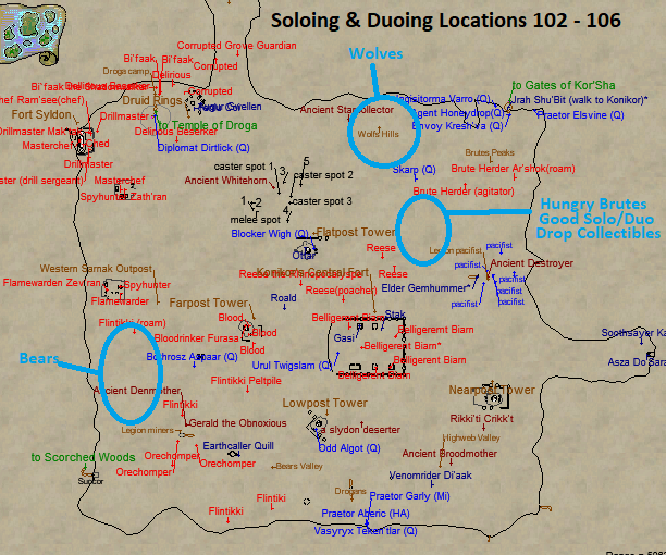 Frontier Mountains Soloing Locations