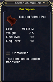 Tattered Animal Pelt