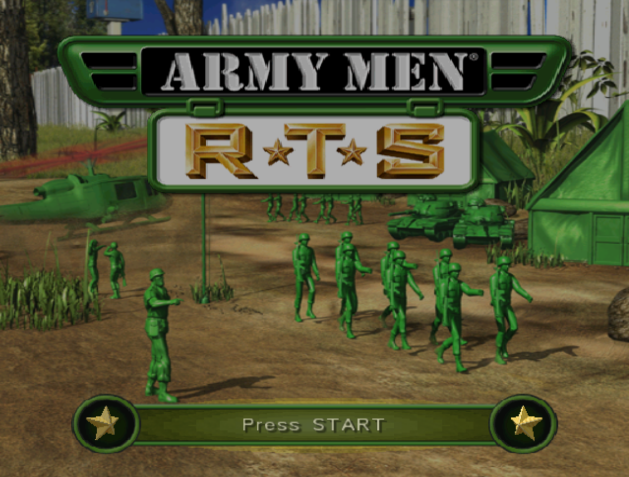 Army Men RTS Title Screen