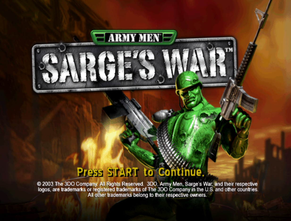 Army Men Sarge's War Title Screen