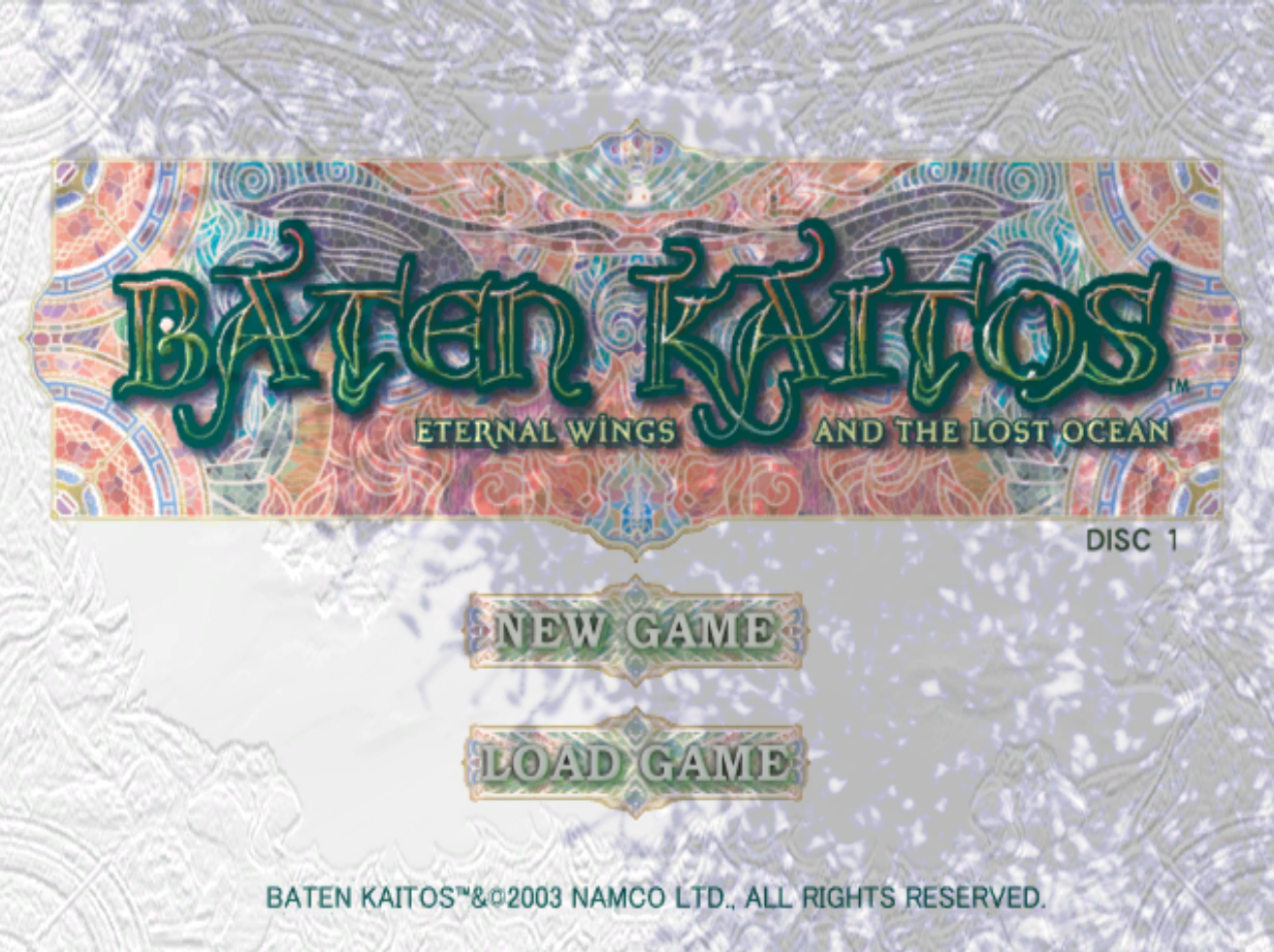 Baten Kaitos Title Screen