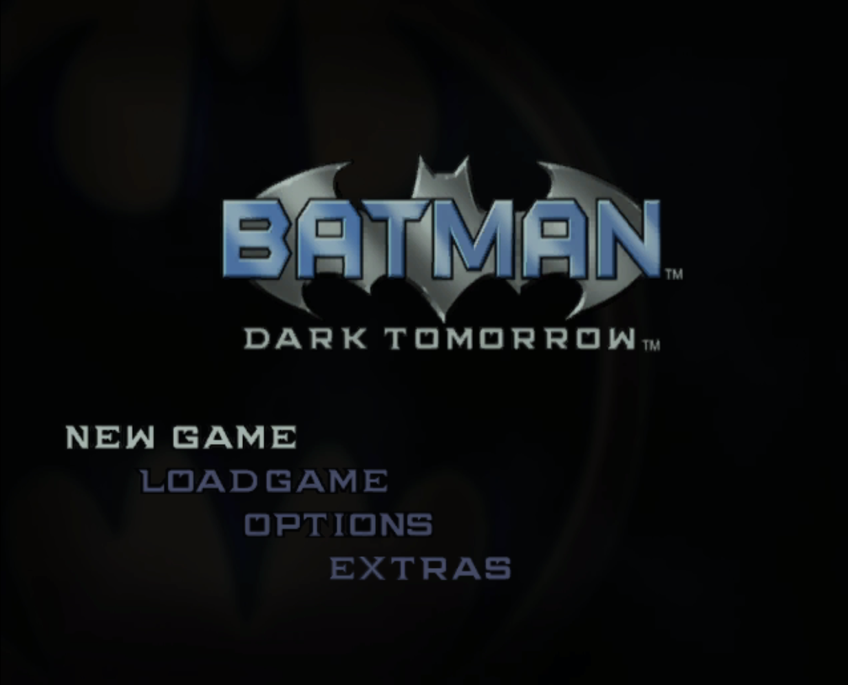 Batman Dark Tomorrow Title Screen
