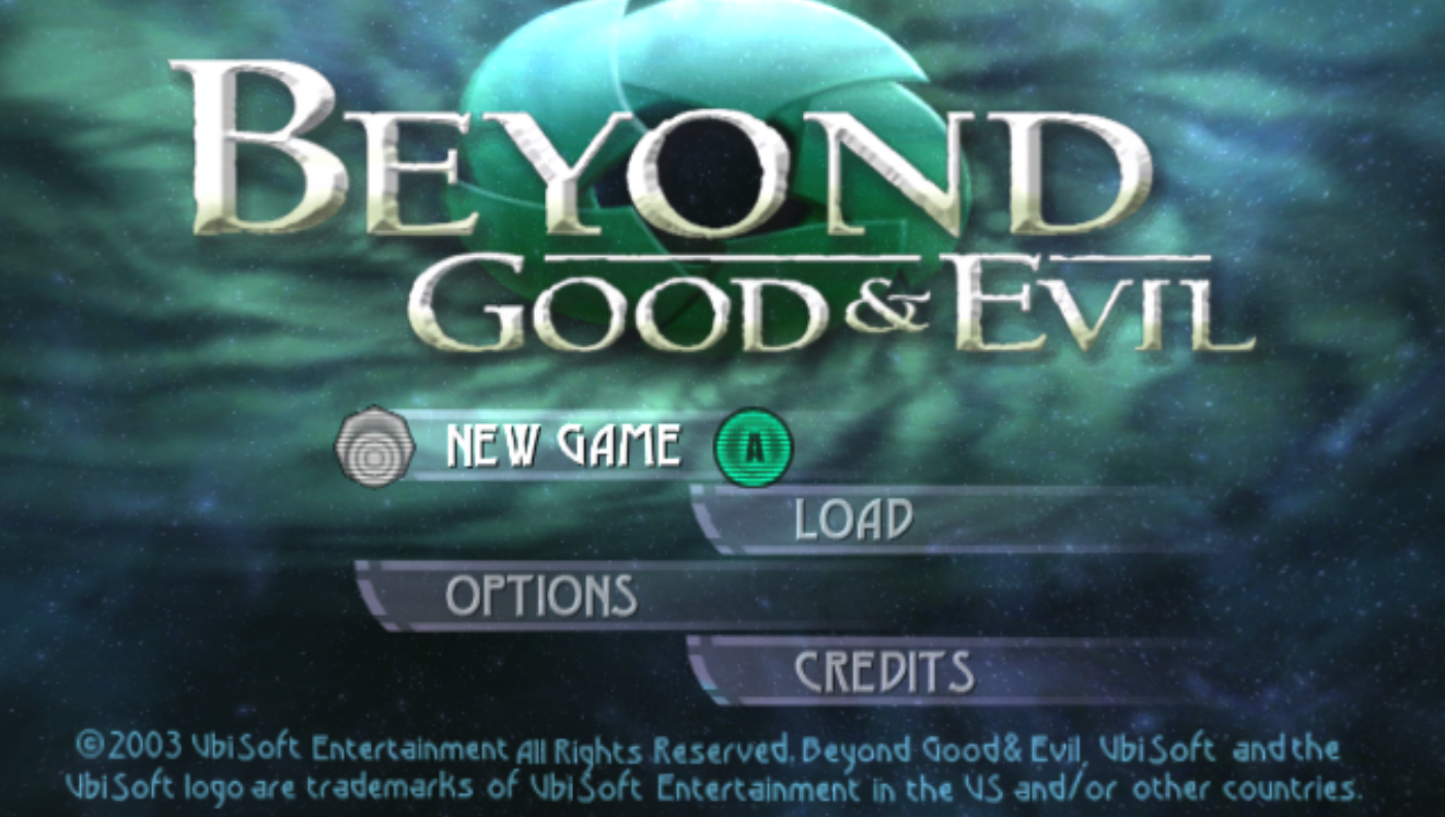 Beyond Good and Evil Title Screen
