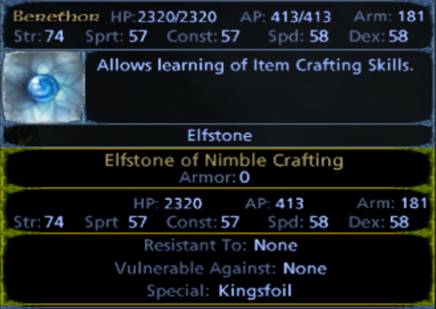 Elfstone of Nimble Crafting