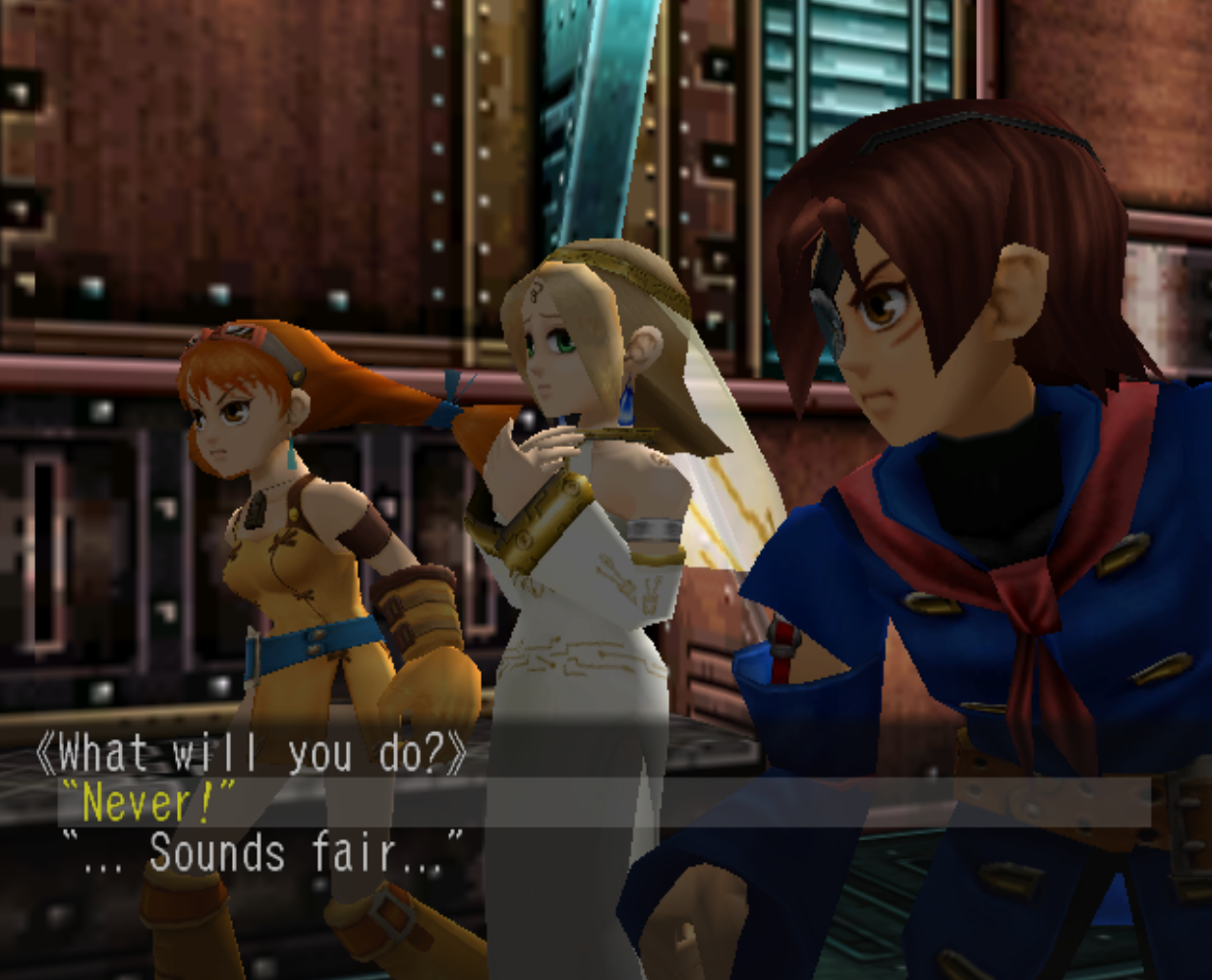 Make A Decision in Skies of Arcadia