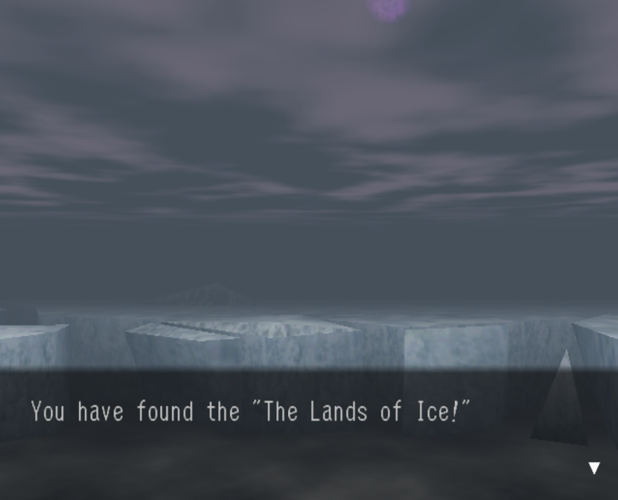 The Lands of Ice Discovery Location