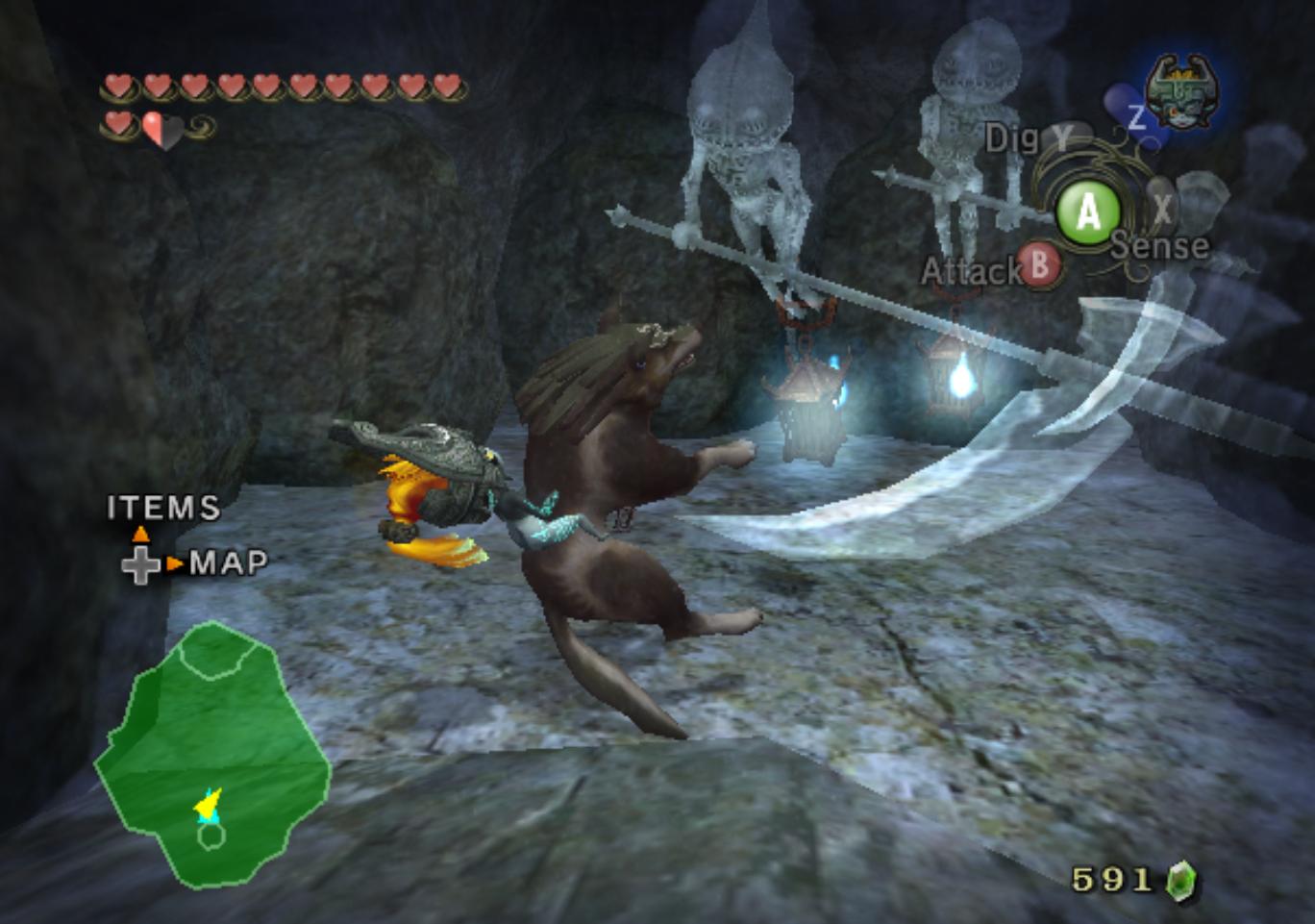 Twilight Princess Cave Of Ordeals Walkthrough The Best Cave