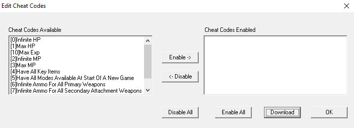 How to use Cheat Codes with the ePSXe Emulator