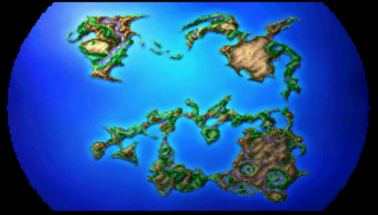 Final Fantasy 1 World Map