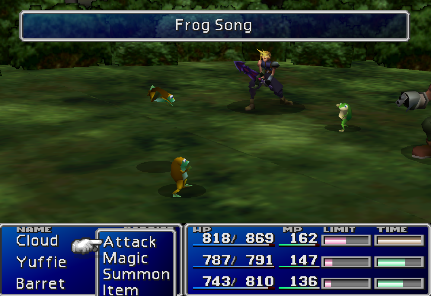 Frog Song Enemy Skill