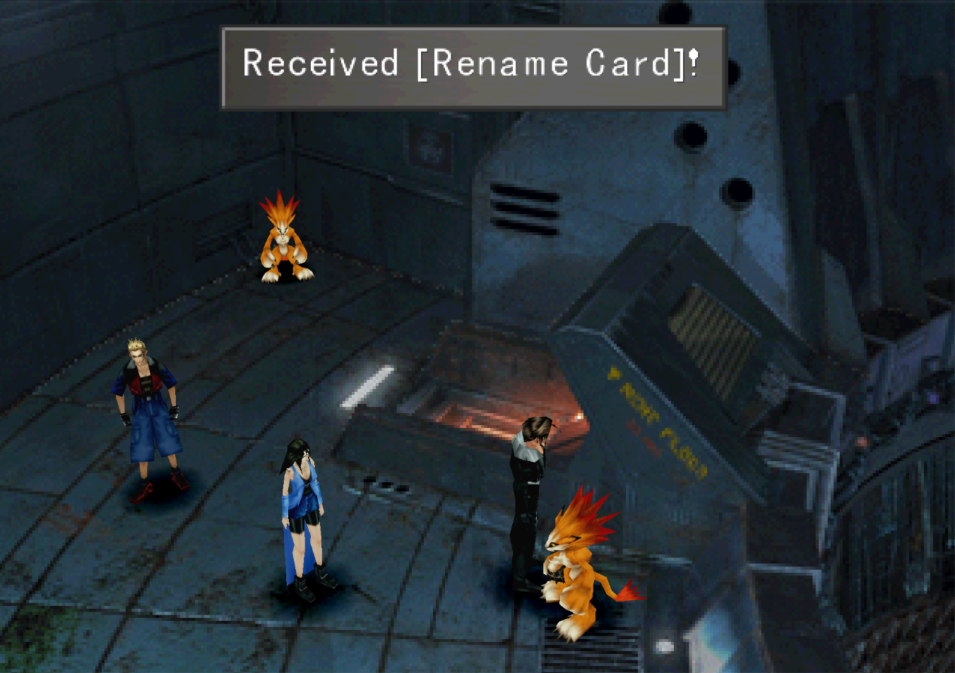 FF8 Rename Card Received