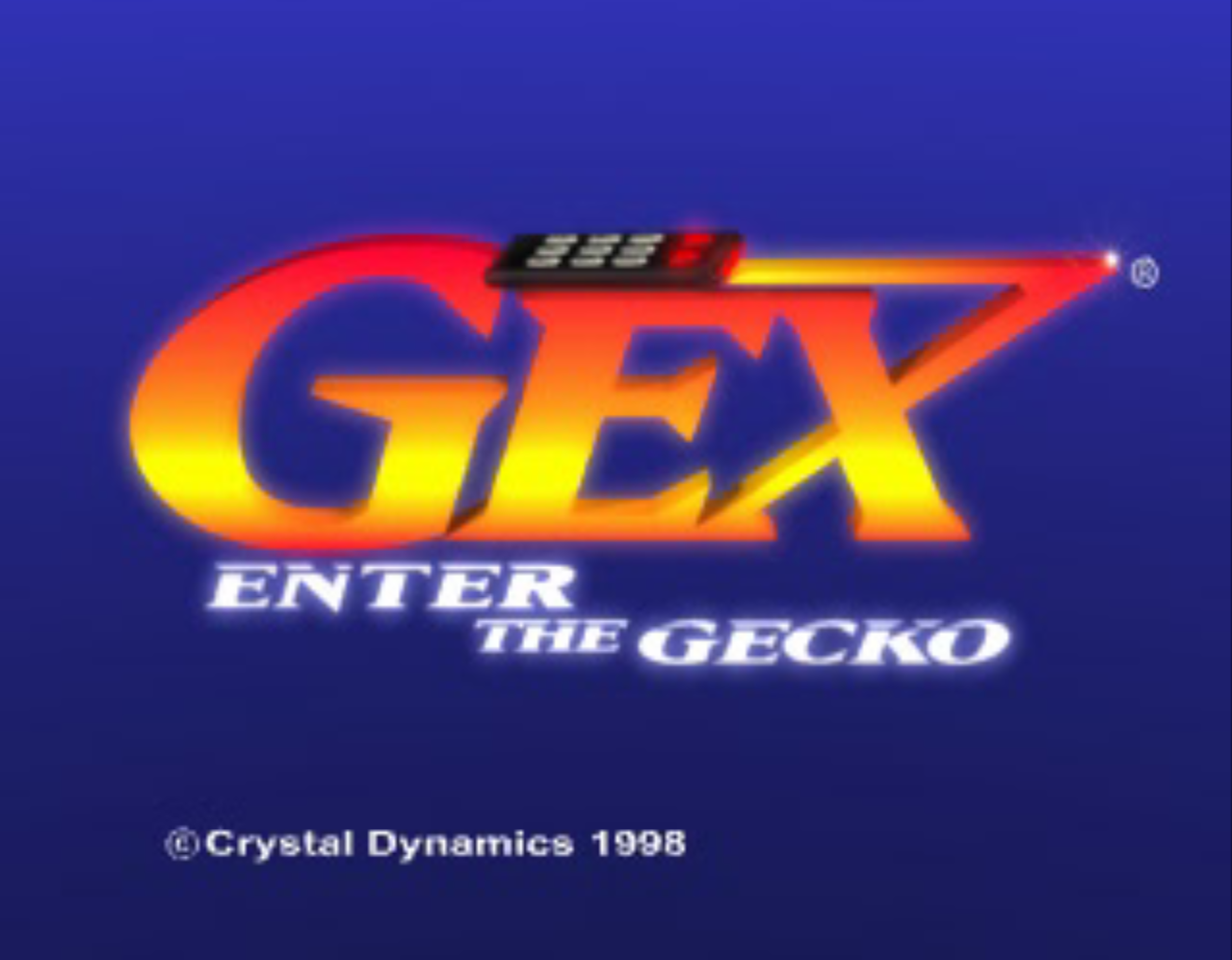 Gex Enter the Gecko Title Screen