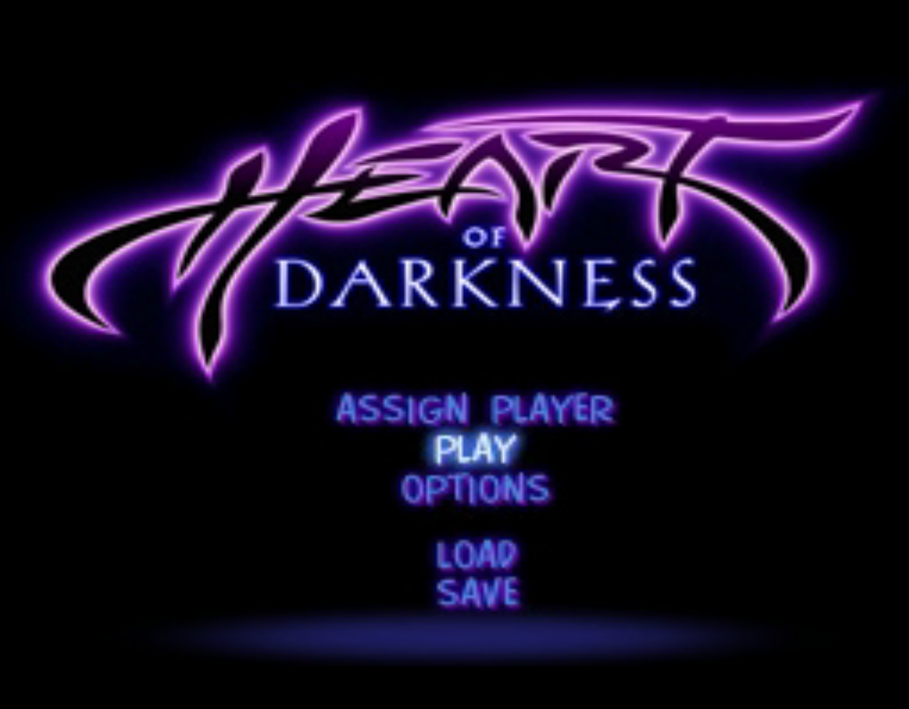 Heart of Darkness Title Screen
