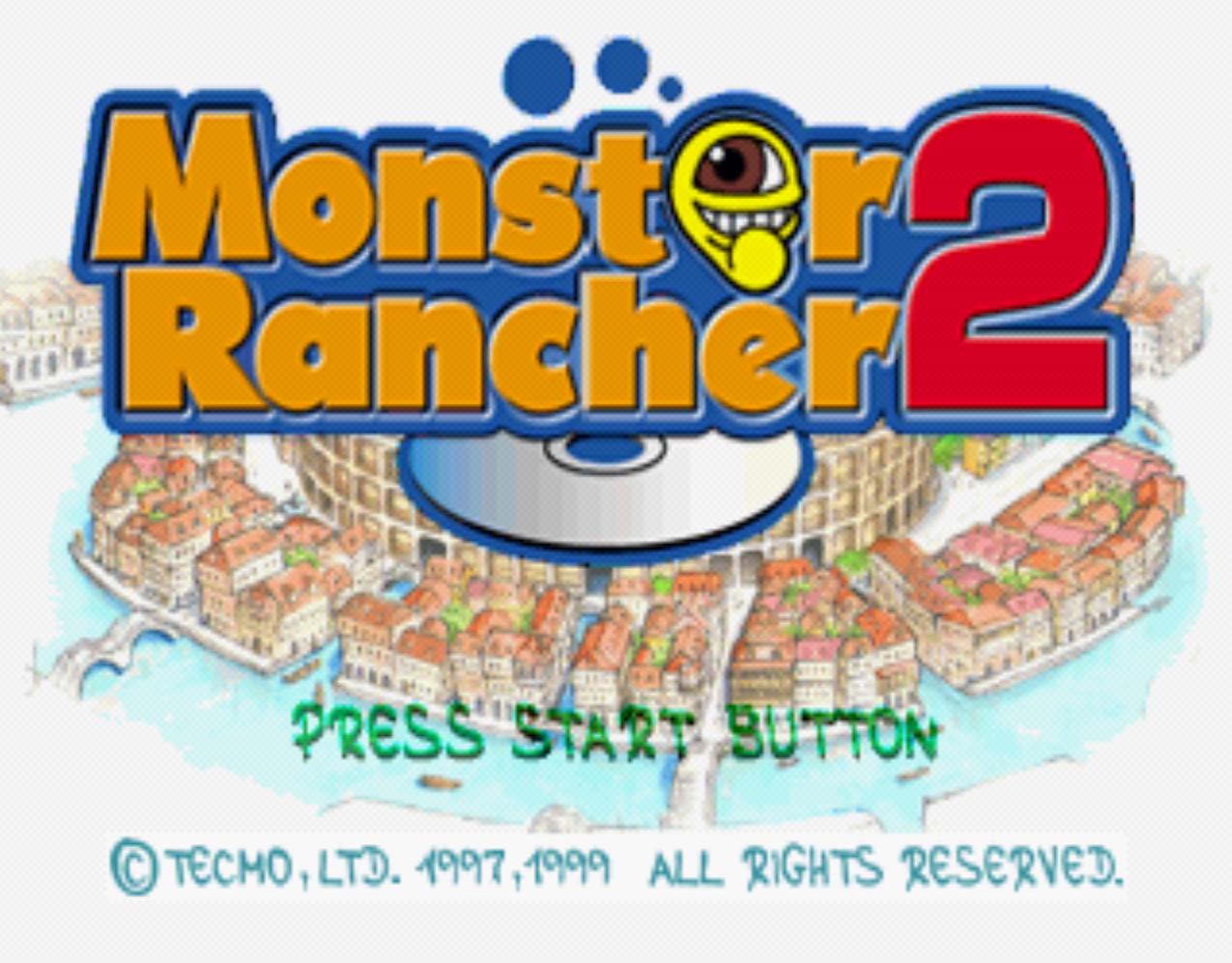 Monster Rancher 2 Title Screen