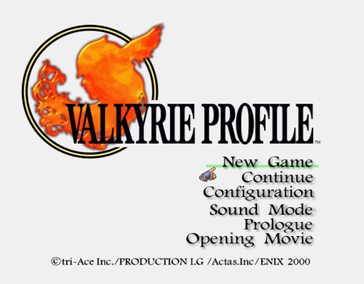 Valkyrie Profile Title Screen