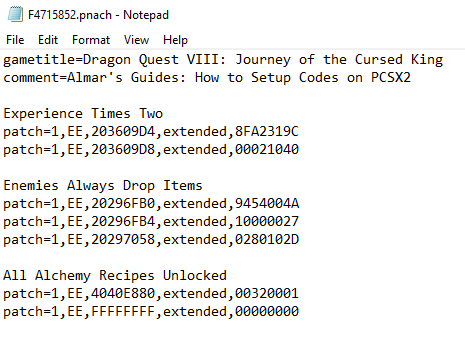 How To Use Codes on PCSX2 Emulator