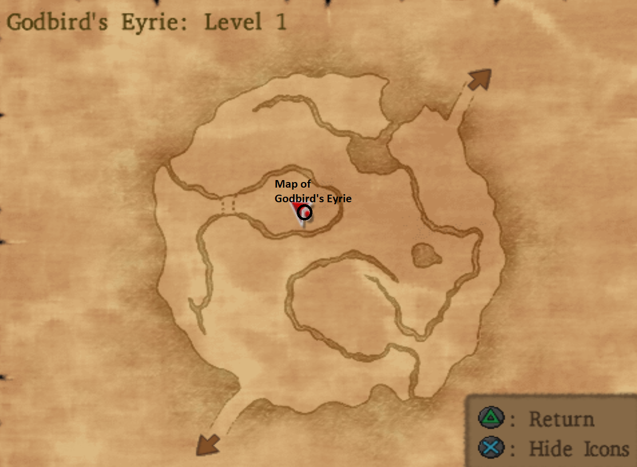 Map of Godbird's Eyrie
