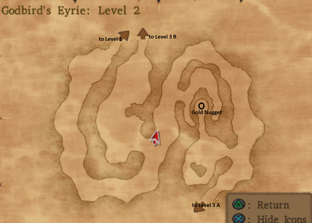 Map of Godbird's Eyrie Level 2