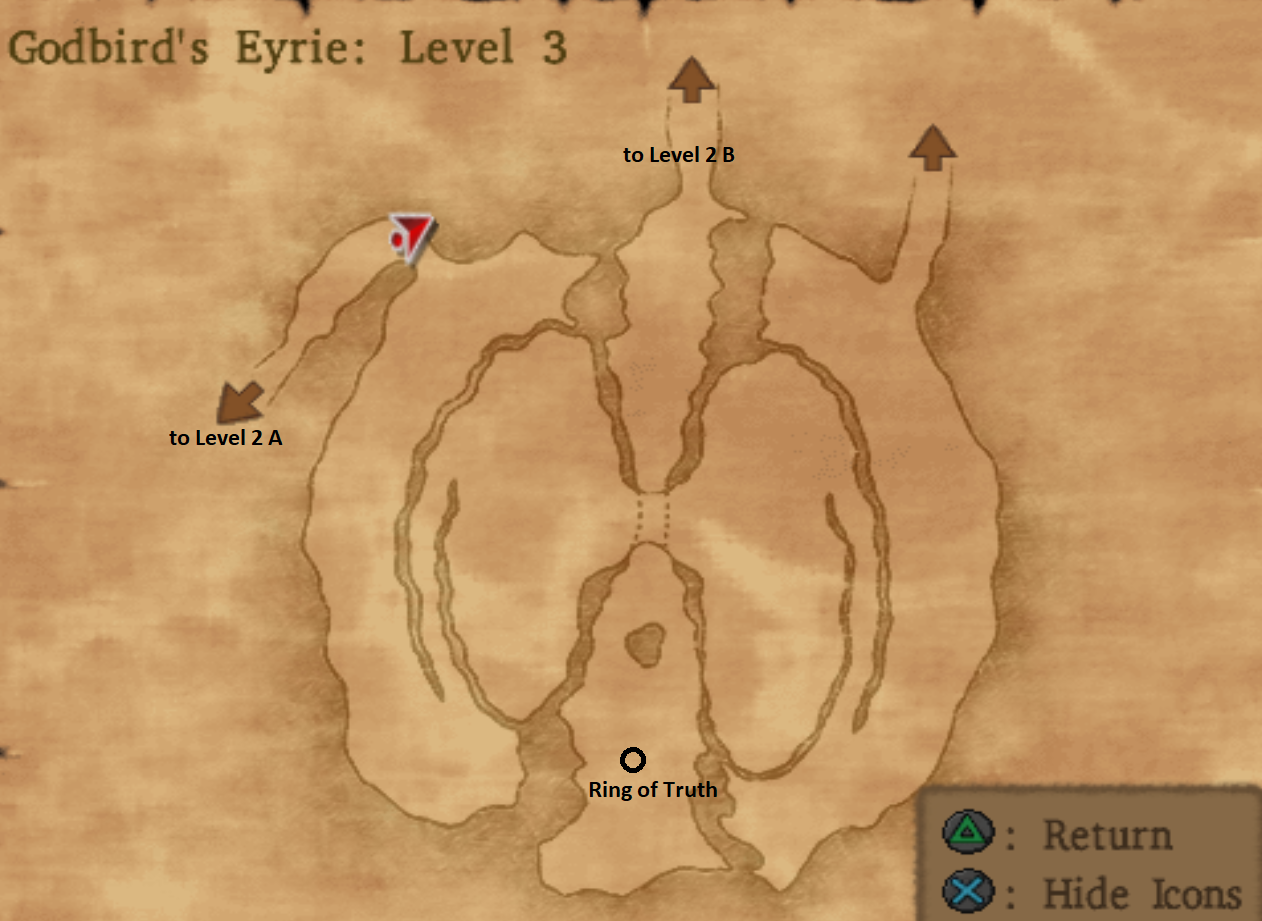 Map of Godbirds Eyrie Level 3
