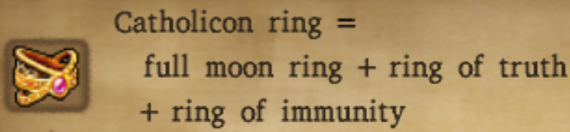 Catholicon Ring Alchemy Recipe