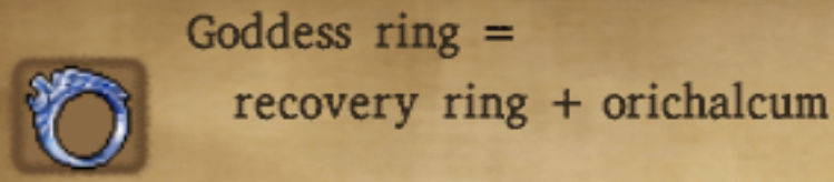 Goddess Ring Alchemy Recipe
