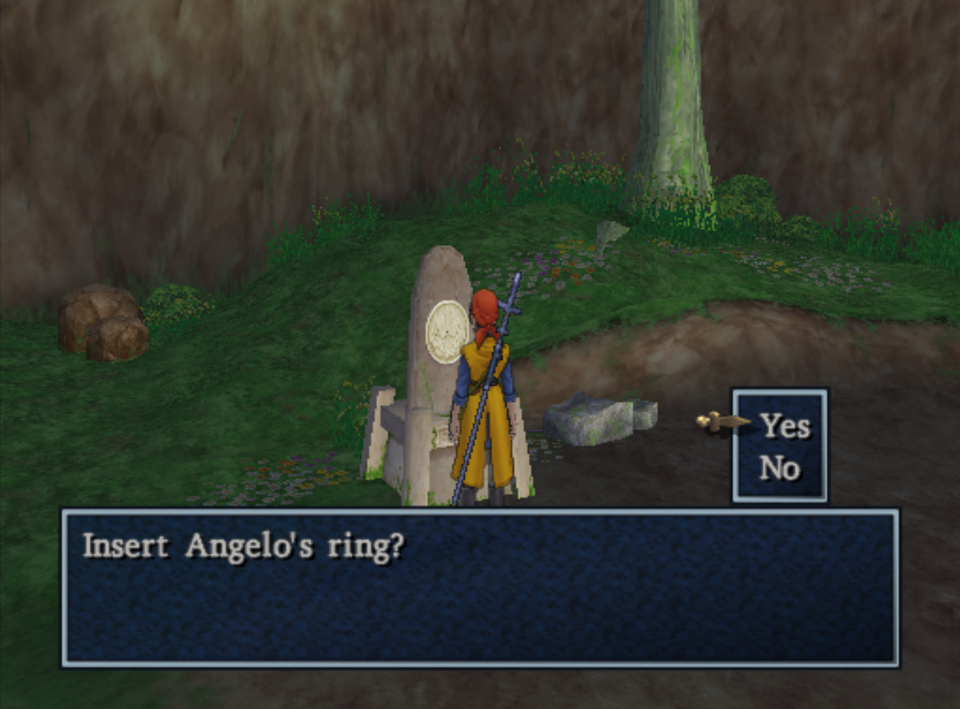 Insert Angelos Ring for Ruined Abbey Access