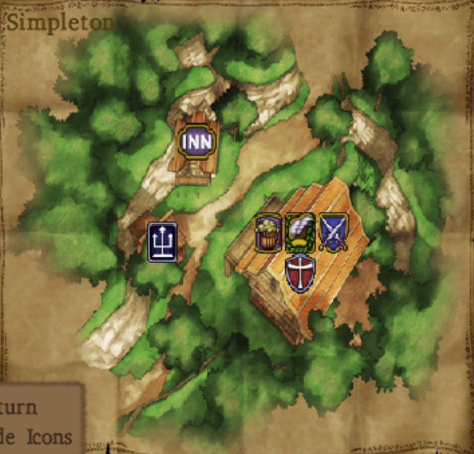 Map of Simpleton