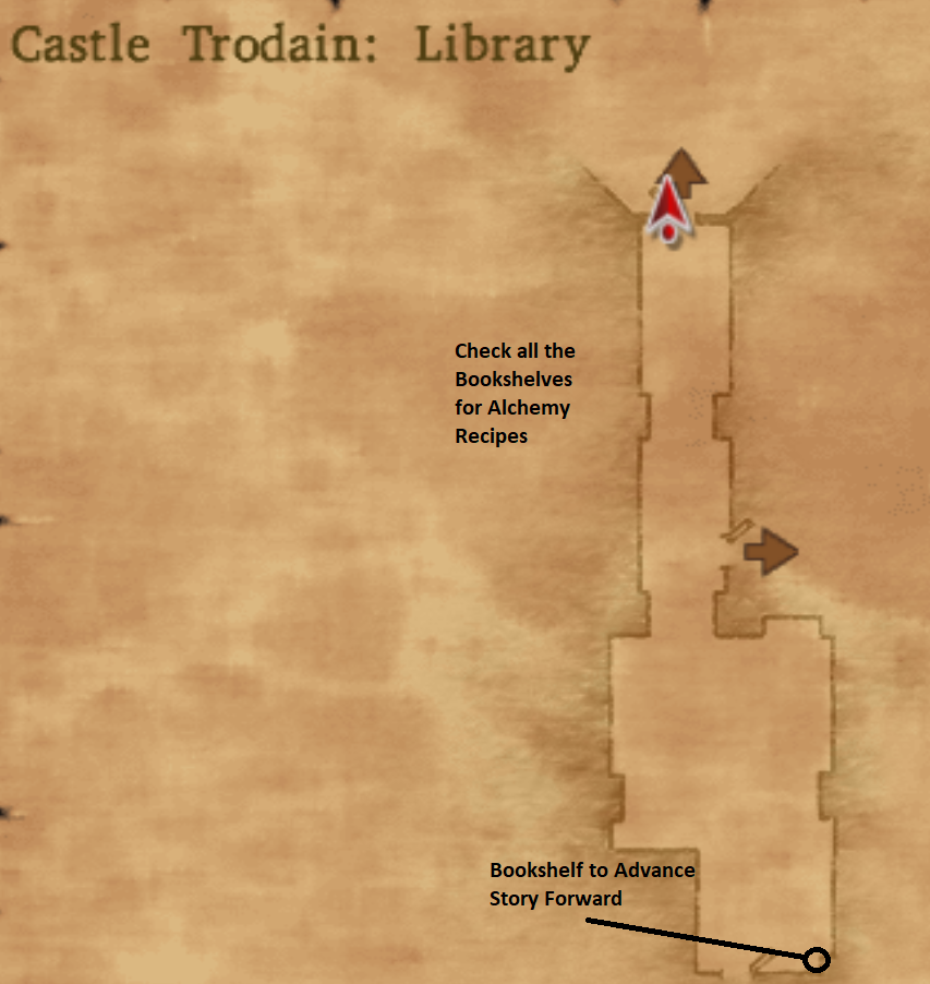 Map of Castle Trodain Library