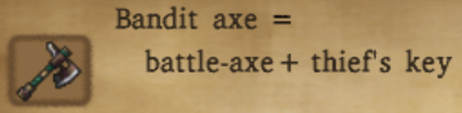 Bandit Axe Alchemy Recipe