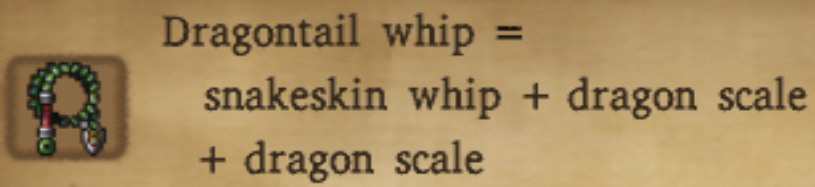 Dragontail Whip Alchemy Recipe