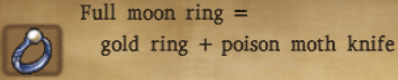 Full Moon Ring Alchemy Recipe