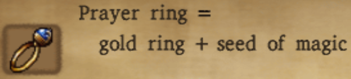 Prayer Ring Alchemy Recipe