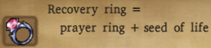 Recovery Ring Alchemy Recipe