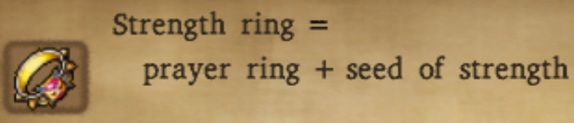 Strength Ring Alchemy Recipe
