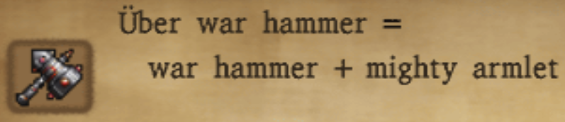 Uber War Hammer Alchemy Recipe