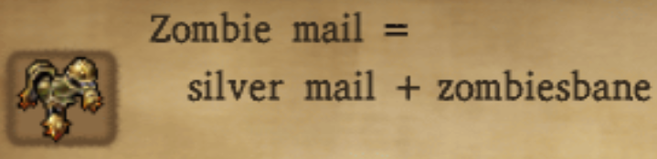 Zombie Mail Alchemy Recipe