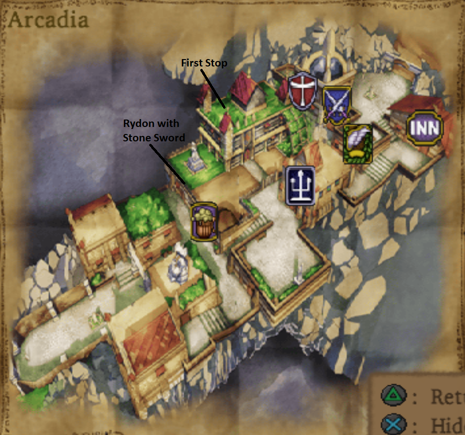 Map of the Town of Arcadia