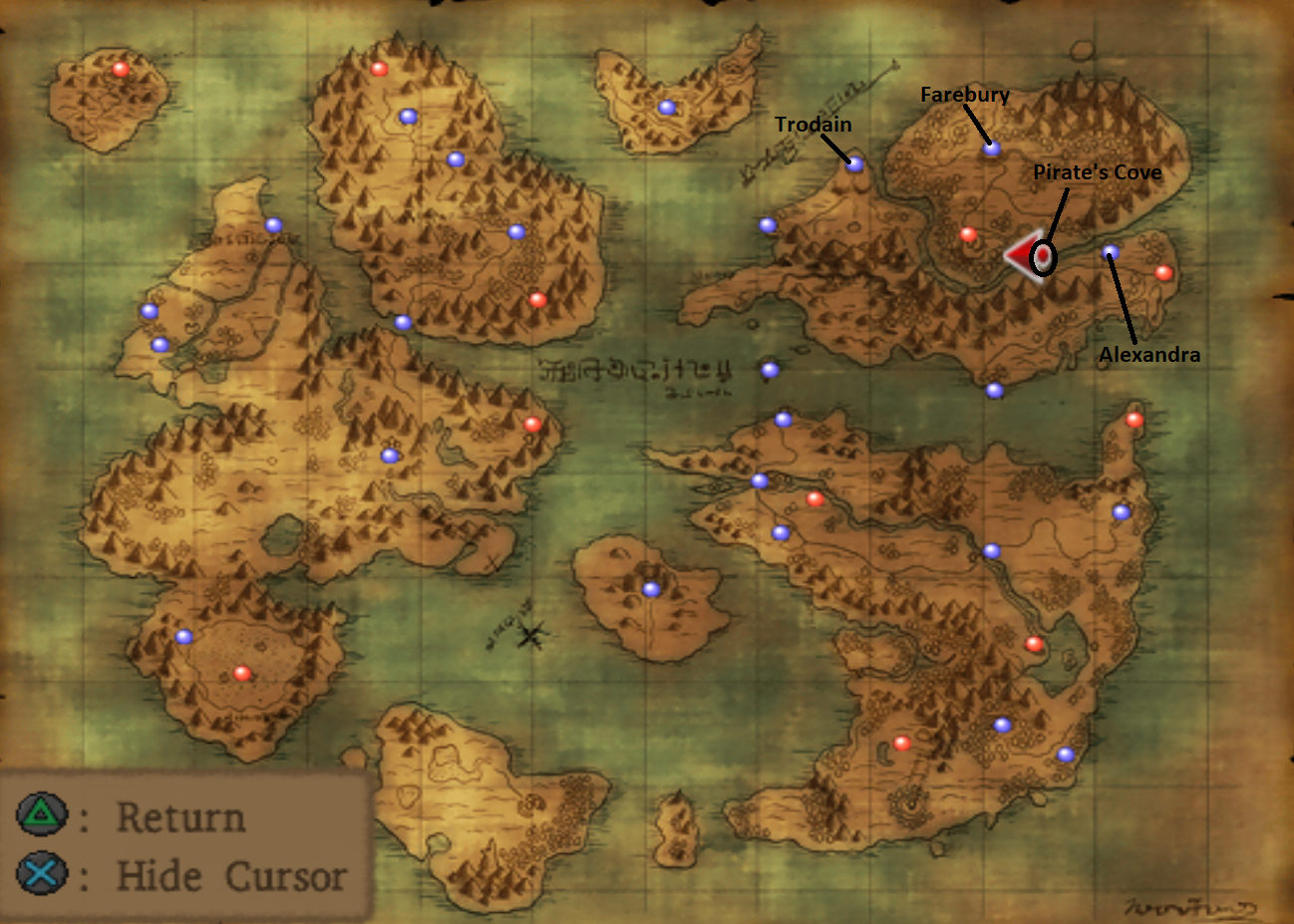 Map of Pirates Cove Location