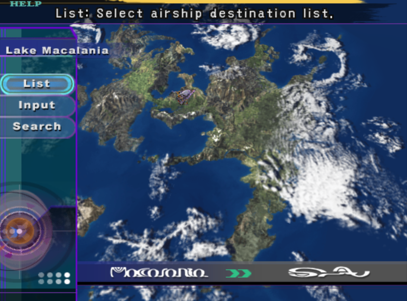 Final Fantasy X World Map.Airship Passwords And Locations