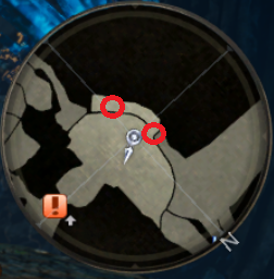 Compass Location of Two Potions