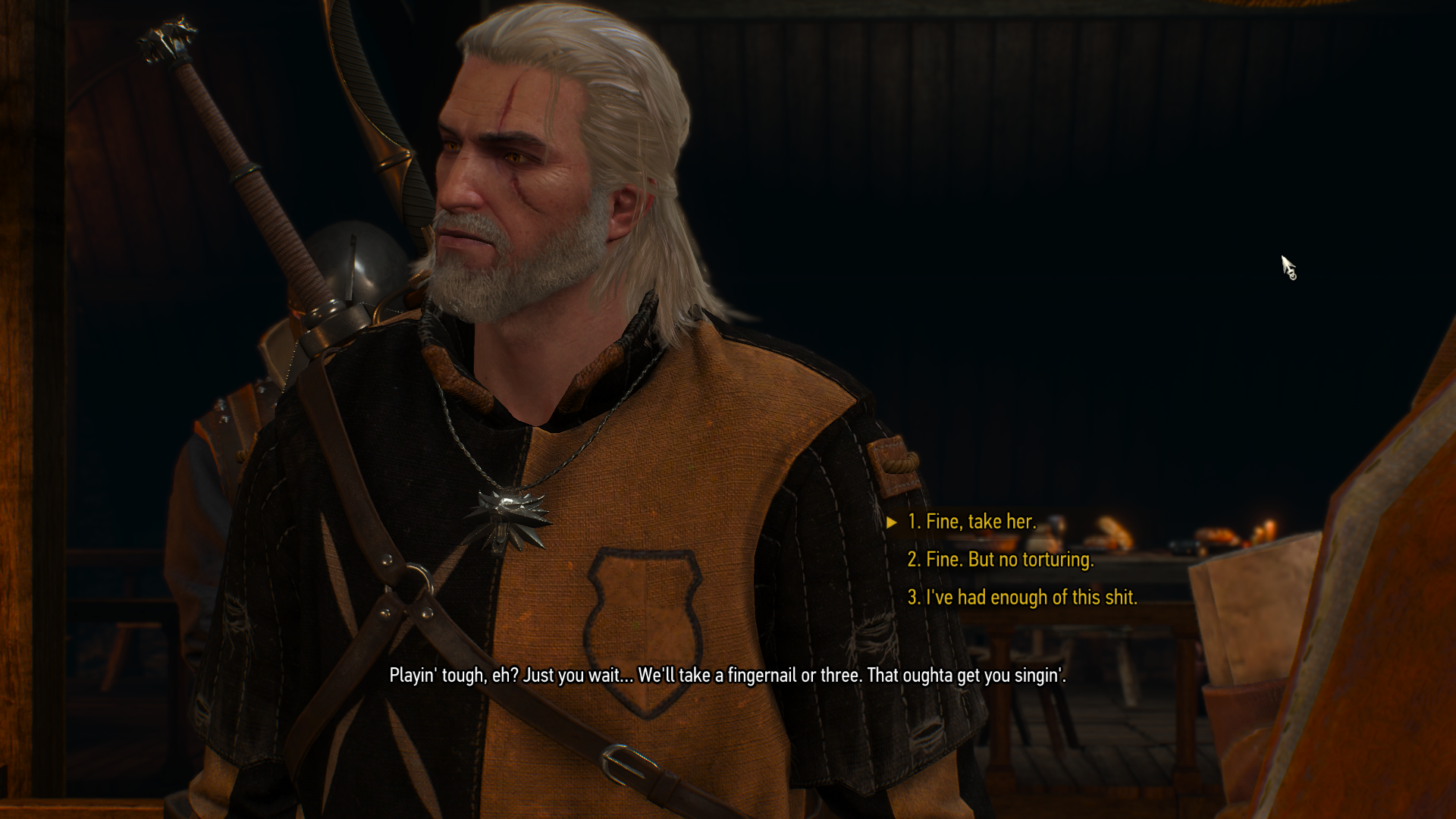 Geralt in Witch Hunter Hideout