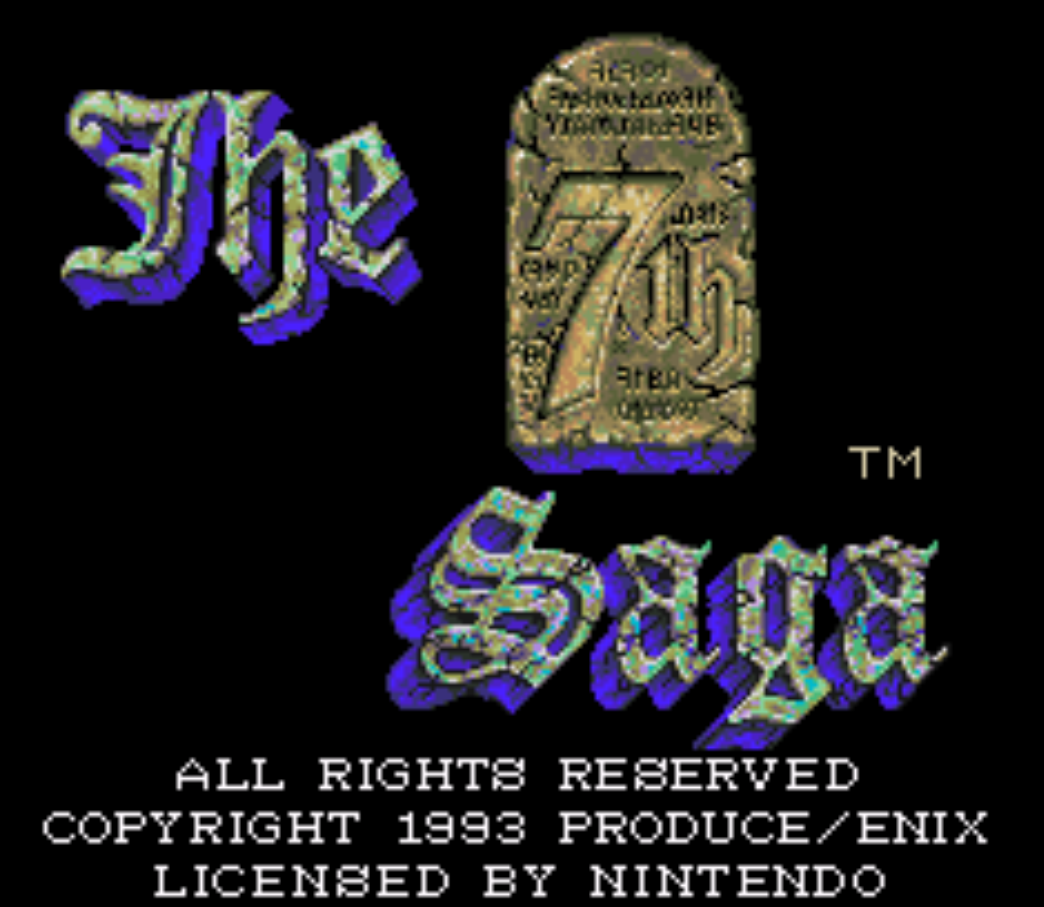 The 7th Saga Title Screen