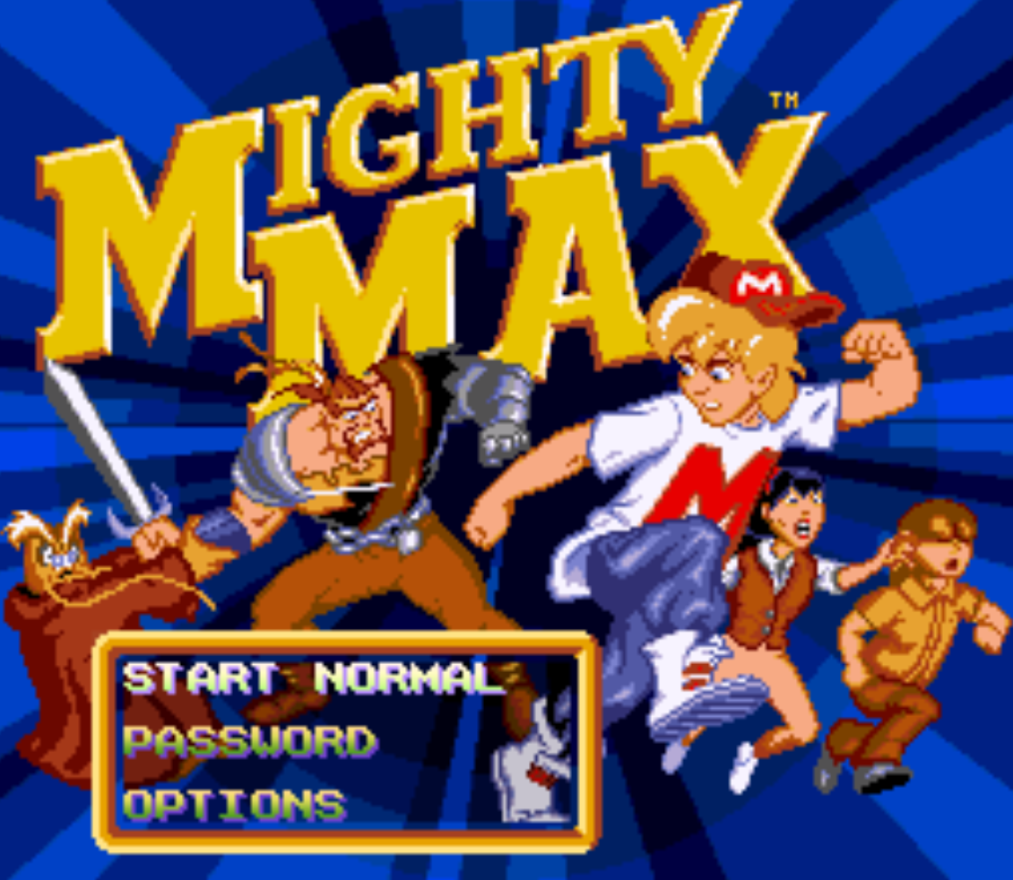 Mighty Max Title Screen