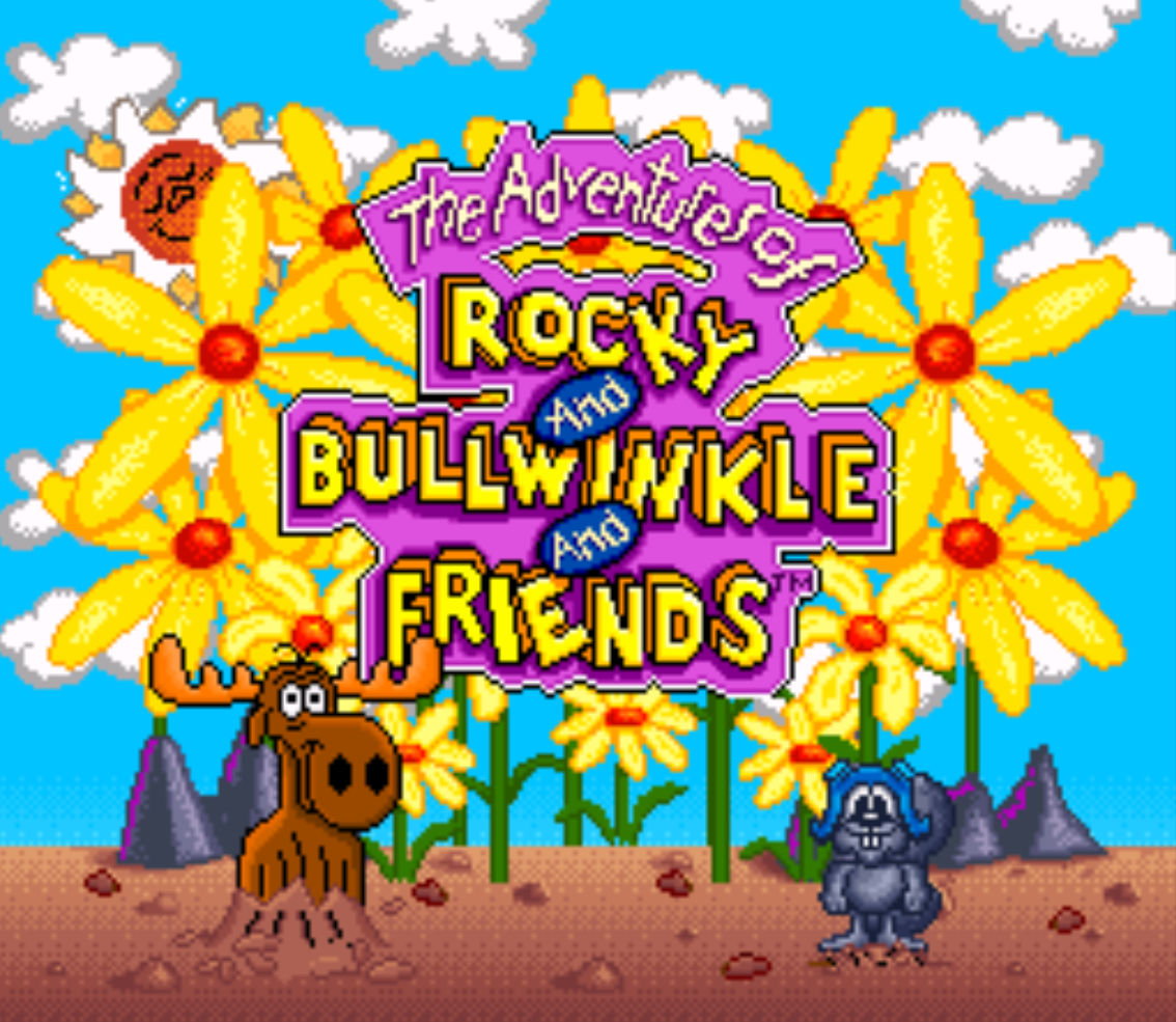 Rocky and Bullwinkle Title Screen