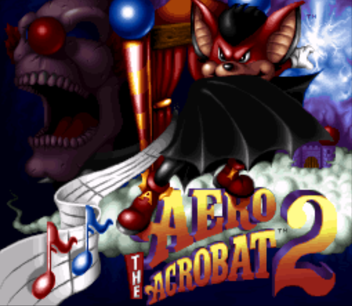 Aero the Acrobat 2 Title Screen